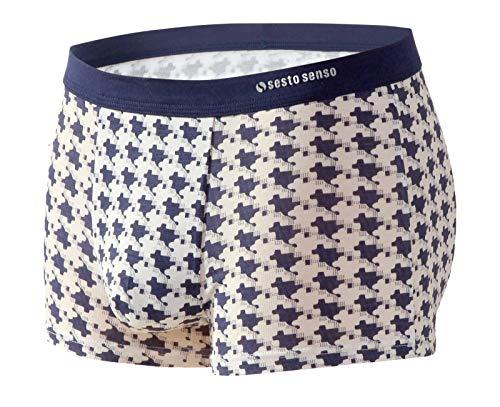 Sesto Senso® Herren Boxershorts Bambusfaser Multipack 1, 2 oder 4 Stück Jugend Retroshorts Micro Modal Unterhosen Unterwäsche Funky (L, Wzór 12) - 2 Stück Slip