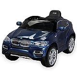 Actionbikes Motors Kinder Elektroauto Original BMW X6 Sonderedition LACKIERT Lizenzierter 2 x 45 Watt Motor Ledersitz Elektro Kinderauto Kinderfahrzeug Spielzeug für Kinder (blau Lackiert)