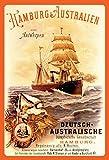 Schatzmix Hamburg Australien Antwerpen dampfschiff Kreuzfahrt Boot blechschild