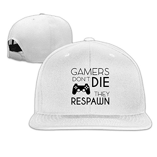 Doormat-bag Cap Gamers Don't Die They Respawn Color