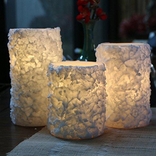 18 teclas de control remoto de copo de nieve de colores led vela electrónica vela artificial vela de parafina vela romántica lámpara de plomo