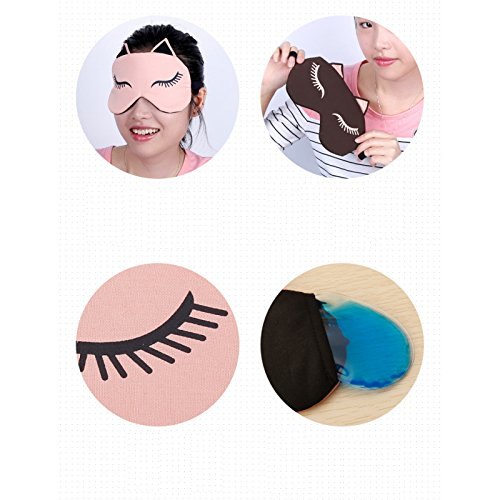 NOTE Cute Cat Sleep Eye Mask Travel Eyepatch Blindfold Cold and Compress Bag Nap Eye Shade Sleeping Traveling Relieve Fatigue Z1