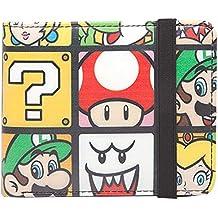 Super Mario - Monedero personajes cartera Luigi Yoshi Peach Nintendo, 11x9x2cm