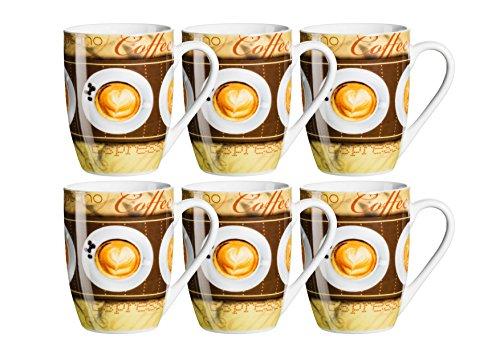 Domestic by Mäser, Série Coffee Fantastic, Mug 29 cl, dans Le – Lot de 6