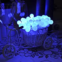 Lychee 4m 40 della batteria della sfera della bolla luci leggiadramente della stringa del LED per Outdoor Wedding coperta Garden Home decorazione della festa di Natale (Blu) - 2 Pulsante Di Alimentazione Finestra Interruttore