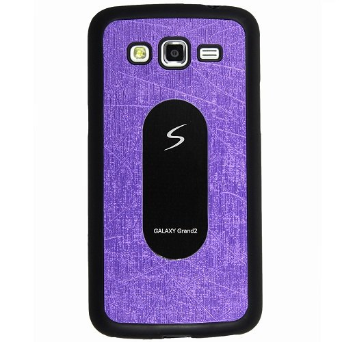 Casotec Metal Back TPU Back Case Cover for Samsung Galaxy Grand 2 - Purple  available at amazon for Rs.119