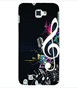 Colourcraft Music Back Case Cover For Samsung Galaxy Note 1