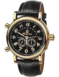 Burgmeister Nevada BM105-322 - Reloj de caballero automático, correa de piel color negro