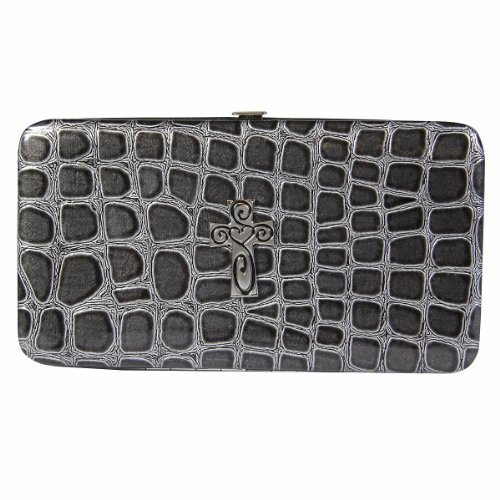Black Croc Embossed Wallet - Croc Embossed Wallet