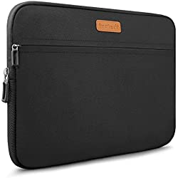 Inateck LC1400B, Borsa custodia sleeve morbida per laptop 14-14.1 pollici, compatibile con MacBook Pro 15 pollici nuovo versione 2016&2017, Idrorepellente, Nero
