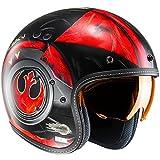 Casco Abierto Moto Hjc Star Wars Fg-70 Dameron Rojo (S , Rojo)