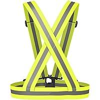 mSure Gilet réfléchissant, haute visibilité de sécurité Gear pour la marche Course à Pied Jogging Cyclisme