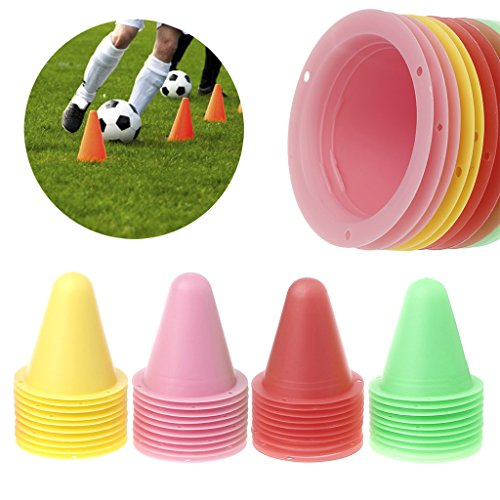Lunji Cones for Roller Skating Cones Football Sports Pack of 10       7 6  cm x 7  cm  red