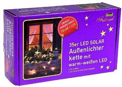 Idena LED - Solarlichterkette 35-er, für Außen, 3.5 m, warmes weiß 8325095 von IDEN Grosshandelshaus Berlin auf Lampenhans.de