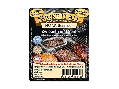 SMOKE IT ALL BBQ Räucherspäne Räuchermischung mit Gewürzen - WATTENMEER -
