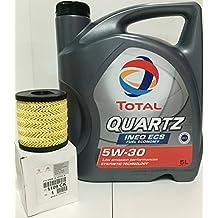 DUO Aceite Total Quartz Ineo ECS 5W-30 y filtro de aceite Original 1109CK