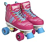 POWER MOVE Zebra Patins à roulettes T33/34 Mixte Enfant, Rose/Bleu