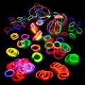 200 Knicklichter, 200 Verbinder, 5 Leuchtbrille, 5 Haarreifen, 8 Kreisverbinder, 8 Flexverbinder, 4 Ohrringe von Kontor 3.11