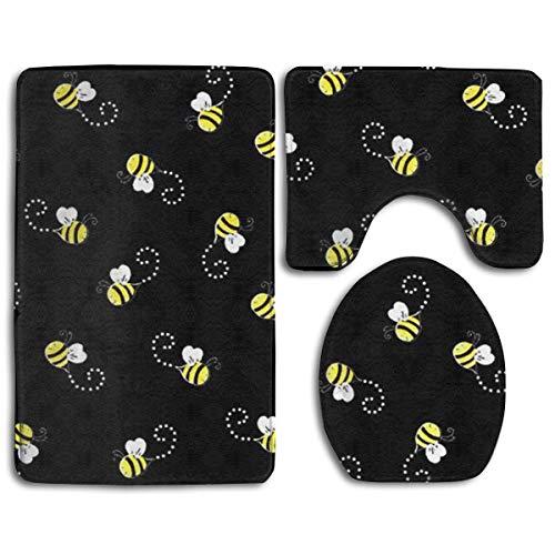 GGdjst Bees Black Soft Comfort Flannel Bathroom