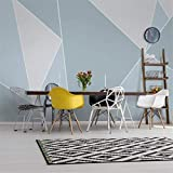 3D Non Woven Wallpaper 3D Tv Background Wall Paper Modern Minimalist Living Room Decoration Wallpaper 5D Geometric Mural 8D Seamless Video Wall Covering,   120Cm*100Cm