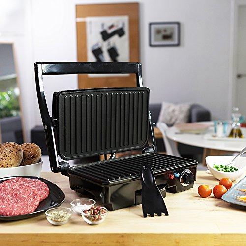 Taurus Grill & Co Legend - Sandwichera Multi grill con tapa basculante y termostato ajustable, 1500 W