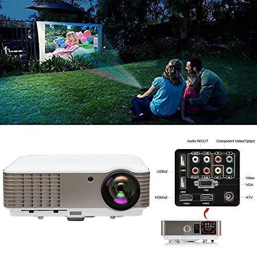 3900 Lumen LED LCD Projektor Full HD 1080P Heimkino Kino Multimedia Beamer mit USB Hdmi VGA AV Ypbpr RCA Audio Anschluss für Smartphone Laptop PS4 Xbox Chromecast Movies