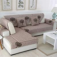JITIAN Sofá Cubre la impresión Floral de la Cubierta del sofá Toalla Antideslizante del algodón para