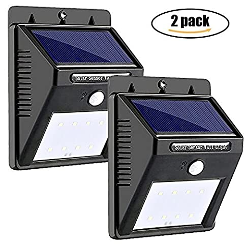 Solar Lights LED Motion Sensor, FUNANASUN Waterproof Outdoor Solar Powered Lights, Wireless Lights for Tree, Patio, Yard, Garden, Driveway, Stairs, Pool, Area Deck, Outside Wall (2 Pack)