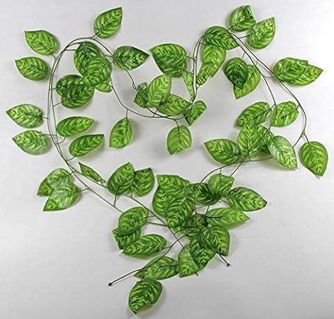 flyyfree 7,87m Vert lierre artificiel guirlande de vigne plantes Faux feuillage fleurs Décoration
