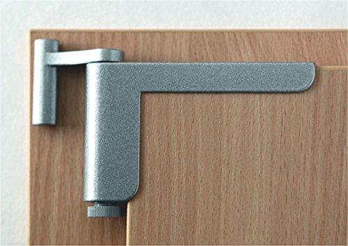 Clipclose TS Minitürschließer / Anlehner in silber - Mini-türschließer