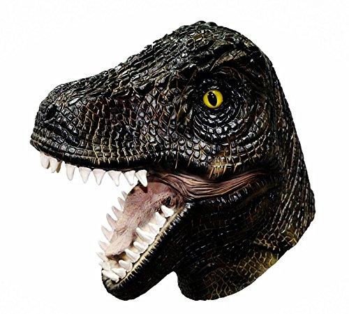 H Tyrannosaurus Dinosaurier Vollkopf Latex Maske Kostüm T Rex Halloween (Für Erwachsene Trex Dinosaurier Kostüm)
