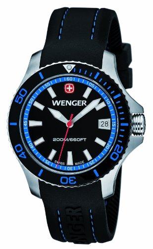 Wenger - 01.0621.102 - Montre Femme - Quartz Analogique - Aiguilles lumineuses - Bracelet Silicone Noir