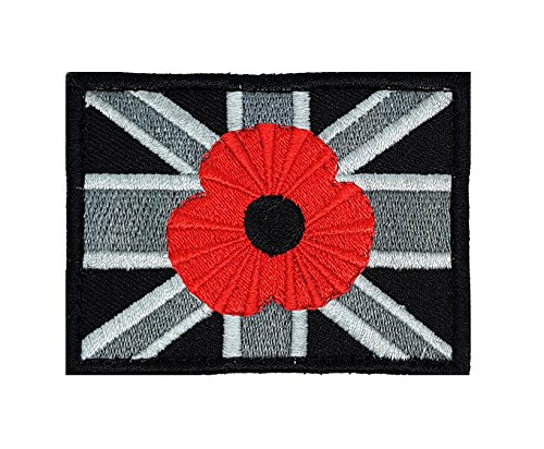 Epub Free Download Union Jack Poppy Velcro Patch Remembrance Soldier Army Military Black Gray Loop & Hook UBAC | Embroidery High Quality Iron on Sew on Embroidered Patch badges for clothes jackets t-shirts coats bags hats wallets