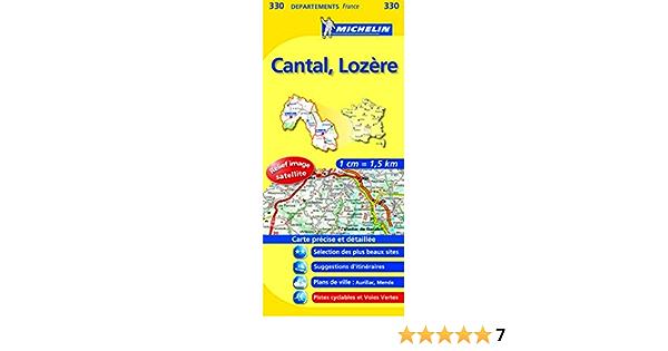 Amazon Fr Carte Departements Cantal Lozere N 330 Collectif Michelin Livres
