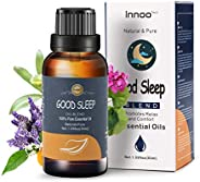 Innoo Tech Essential Oils Aromatherapy Good Sleep Oil - Lavender, Sweet Oranege, Geranium, Palm Essential Oils
