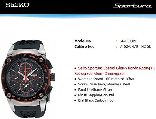 Seiko Armbanduhr Seiko Sportura Honda Chronograph SNAC03P1