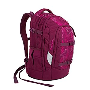 SATCH Purple Leaves Kinder-Rucksack, 45 cm, Lila Rosa Blätter, SAT-SIN-002-9H3