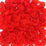 Coceca 1000 Stück Rosenblüten, Rosenblätter, Blumenblätter aus Seide, Kunstblumen für Hochzeit Feier Deko, Valentinstag romatische Überraschung