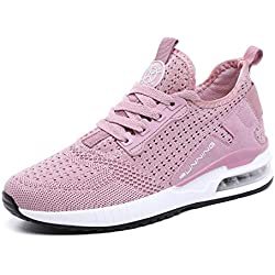tqgold® Basket Femme Homme Chaussure de Sport Course Running Fitness Tennis Mode Sneakers(Rose,Taille 38)