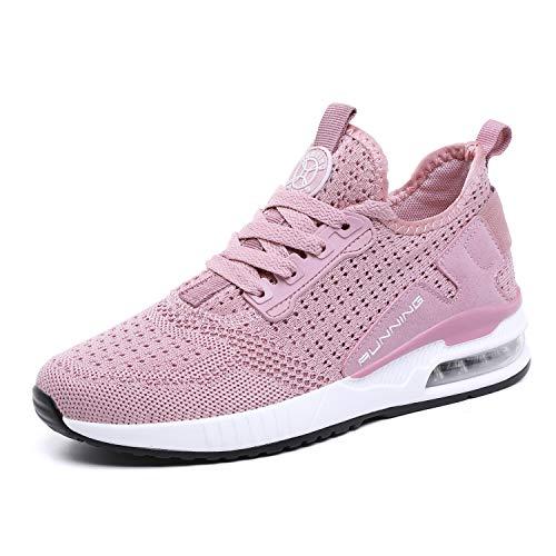 tqgold® Sportschuhe Herren Damen Laufschuhe Sneakers Turnschuhe Gym Fitness Leicht Schuhe(Rosa,Groß 39)