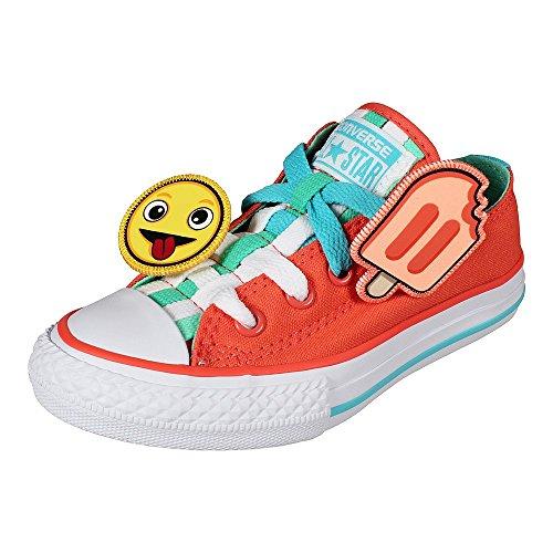 Converse Kinder Schuhe Chuck Taylor All Star Loopholes Ox Wild Mango Green Glow (orange) Wild Mango Green Glow