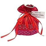 Darling '20di Matrimonio della iuta sacchetti piccolo rustico iuta Borse con personalizzata etichette del Favor de spezzato del nastro Potli Sacchetti di 4'X 6,5pollici 30 Bolsas rosso