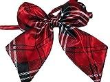 pour filles et femmes mode nœud en satin Cravate Cravate 15 + Couleurs déguisement fête : léopard, pointillé, rayures par fat-catz-copie-catz - femmes ecossais rouge cravate, 12.5cm x 11cm