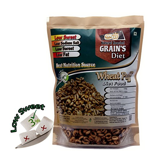 Wheat Puff Low Sweet Diet Food 600gsm Roasted  available at amazon for Rs.150