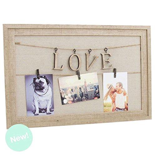 Panel Portafotos 56,5x36,5Cm Pinzas Love