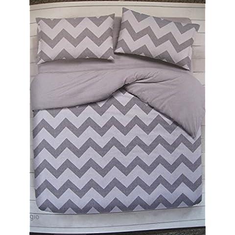 Completo lenzuola letto matrimoniale 1 piazza 1 piazza e mezza SHABBY CHEVRON