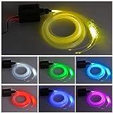 Dewel 16 W RGBW LED Fibre Optique Lumière Étoile Kit de Fixation au Plafond 150 pcs 2 m Fibre Optique D'éclairage avec RF Télécommande 28 Touches pour Bar Café Fête
