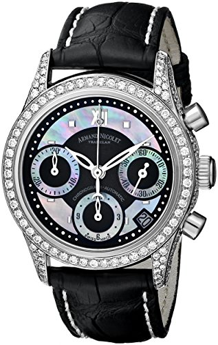 armand-nicolet-womens-9154v-nn-p915nr8-m03-classic-stainless-steel-watch-with-diamonds-and-black-lea