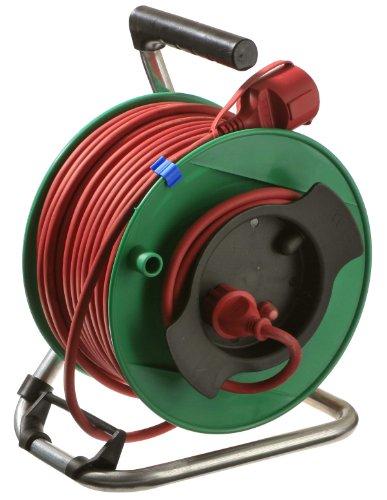 as -Schwabe 12239 Gerätetrommel, Rasenmäher Trommel, 50 Meter H05RR-F 3G1,5, IP44 Aussenbereich / Garten