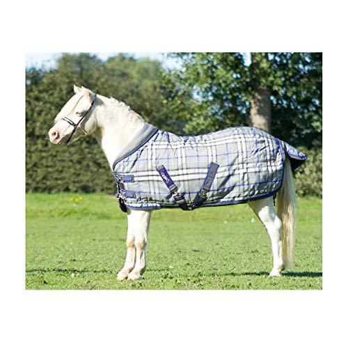 netproshop Pferde Falabella Stalldecke mit Fleecekragen und Schweiflatz 200 g Auswahl, Groesse:90, Farbe:Castlerock